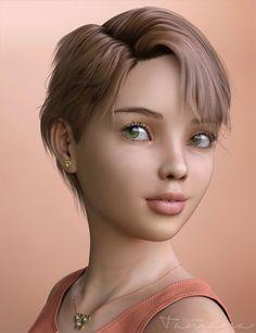 Tamara Character and Hair for Genesis 3 Female(s) | 3D hair for Daz Studio and Poser