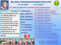 14-12-2015 DIA DEL COOPERATIVISMO PERUANO- 51 años de vigencia Ley de Cooperativas