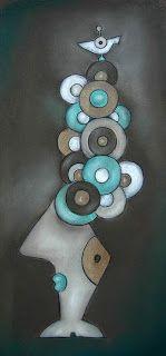 ninaboosart: Hochfrisur Pastell/ Kohle Zeichnung