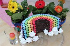 Mit vielen bunten Smarties lässt sich doch etwas Wunderbares zaubern. Zum Beispiel ein Regenbogen-Schokokuchen! Das hat jedenfalls Ellen Glebe zu unserem Jubiläum gemacht.
