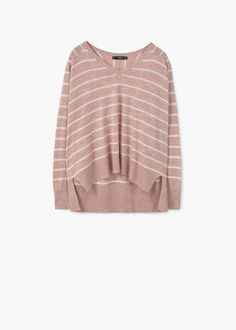 Striped cotton-blend sweater | MANGO