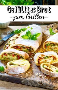Stuffed bread for grilling - Brot & Brötchen - Grillen Healthy Chicken Recipes, Pork Recipes, Pasta Recipes, Appetizer Recipes, Mexican Food Recipes, Crockpot Recipes, Vegetarian Recipes, Ethnic Recipes, Pan Relleno