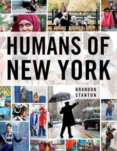 Humans of New York book out Oct. 15th. One for me, one for Johnny's coffee table.
