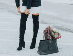 Highland black Stuart Weitzman over the knee boots Stuart Weitzman, Over The Knee Boots, Black Suede, Shoes, Accessories, Fashion, Moda, Zapatos, Shoes Outlet