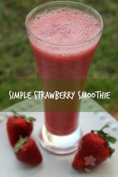 Simple #Strawberry #Smoothie - #smoothies