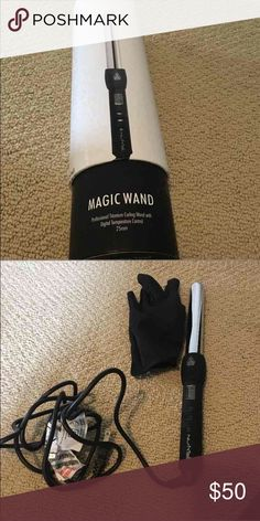 Nume magic wand 25 mm almost new with box Professional titanium curling want with digital temp control 25 mm. Comes with instructions, box and heat glove. Used once and didnt work on my hair. nume Other