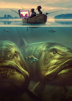 Aquatic Humor...You never know what may be lerking underneath! | Tommy Kinnerup
