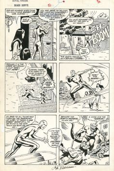 Silver Surfer, Marvel Fanfare #51 Pg.32 (John Buscema) Comic Art