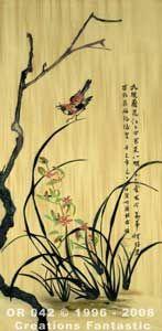 Backdrop OR042 Oriental Flower Panel 2