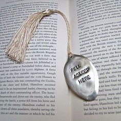 'Fell Asleep' Vintage Spoon Bookmark by Home & Glory, the perfect gift for Explore more unique gifts in our curated marketplace. Fork Jewelry, Metal Jewelry, Bullet Jewelry, Jewellery, Gothic Jewelry, Jewelry Necklaces, Jewelry Crafts, Handmade Jewelry, Earrings Handmade