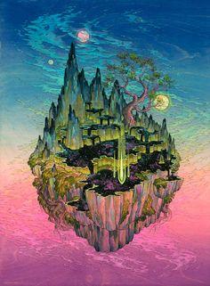 Voici les peintures de l'artiste américaineNicole Gustafsson, qui nous entraîne dans des univers fantastiques grâce à des créations douces, colorées et