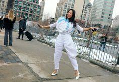 Tina Leung in a Delpozo top