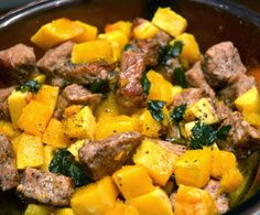 Live Better Forever: Spiced Pork and Butternut Squash Butternut Squash, Pot Roast, Lchf, Great Recipes, Spices, Good Food, Paleo, Pork, Cooking Recipes