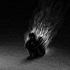 The Art of Brian Luong: Drawlloween 2017 - Day 27 Dark Fantasy Art, Dark Art, Art And Illustration, Arte Horror, Horror Art, Art Ancien, Creepy Art, Occult, Disney Art