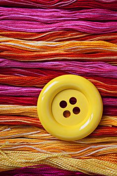 Big Yellow Button Photograph by Garry Gay - Big Yellow Button Fine Art Prints and Posters for Sale