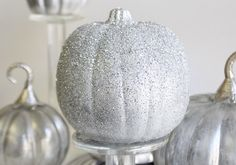 Need a little Glam? Just add glitter to your pumpkins. From spunky costumes to no carve pumpkins, here's tons of DIY ideas to suit anyone's style this Halloween.