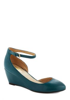 Stylish Steps Wedge in Ocean, #ModCloth