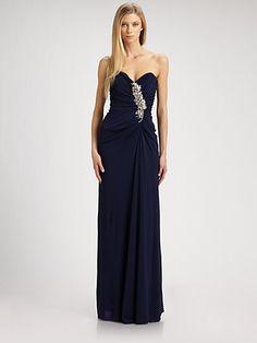 Badgley Mischka - Strapless Jersey Gown - Saks.com Nicest dress..
