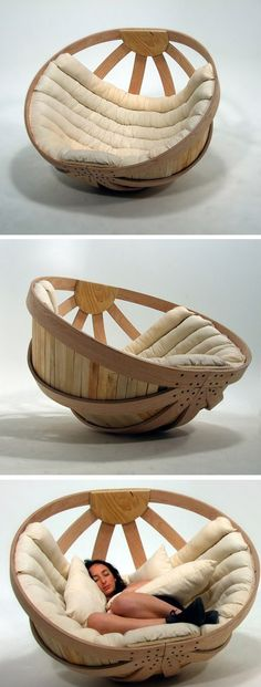Cradle Chair - I'doesn't want the cushion to cover the whole thing. I could so make this