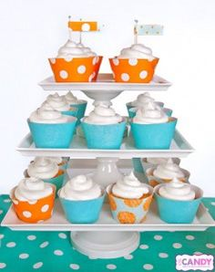 Cupcake wraps are an easy way to color coordinate any sweet treat!