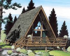 Image result for a frame model house