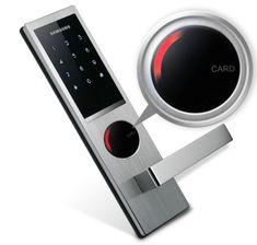 samsung smart door locks - Google Search Smart Door Locks, Electronic Lock, Safety And Security, Smart Home, Industrial Design, Lockers, Samsung, Doors, Fingerprints