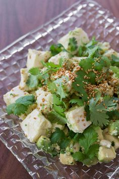 Tofu-Avocado Salad