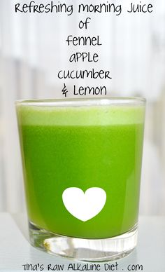 LIVER CLEANSE JUICE RECIPE: apple, fennel, cucumber & lemon! ♥ I Liver You ♥ www.Livers.co