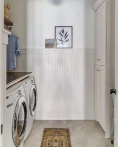 DIY slipcovered sleigh bed - Crazy Wonderful Laundry Room Doors, Farmhouse Laundry Room, Small Laundry Rooms, Laundry Room Organization, Ikea Pax Wardrobe, Ikea Closet, E Design, Room Ideas, Modern Farmhouse