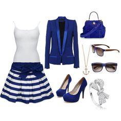 """Sailor blue"" by fatima-ikanovic on Polyvore"