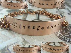 BDSM Gorean Handstamped Copper Chainmaille by aislinnscollared