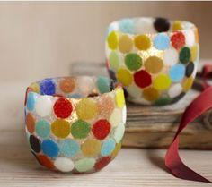 Tiled Tea Light Holders http://www.vivaterra.com/tiled-tealight-holders.html