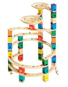 $117.85, Award Winning Hape Quadrilla Wooden Marble Run Construction - The Cyclone
