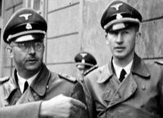 Heinrich Himmler and Reinhard Heydrich. Buddies burning in HELL. Imperial Security, Joseph Goebbels, The Third Reich, Military History, Historical Photos, World War Ii, Wwii, Germany, Hero
