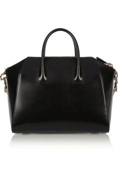 Givenchy Medium Antigona bag in shiny black leather