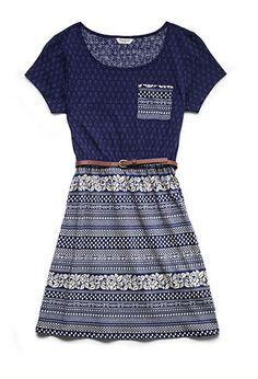 Floral Striped Skater Dress (Kids) | FOREVER21 girls - 2000104420