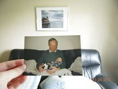 Dear Photograph,  This is how my Grandad used to hold me… now I am holding him.  Love, Emma