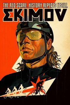 «Ekimov» by Tavis Coburn. Der russische Radrennfahrer Wjatscheslaw Jekimow (engl. Ekimov) hat bei Olympischen Sommerspielen drei Goldmedaillen gewonnen. Jekimow ist 15 Mal die Tour de France gefahren, hat dabei zwei Tour-Etappen gewonnen und war massgeblich an den Tour-Gesamtsiegen von Lance Armstrong beteiligt. 2001 erhielt Jekimow die Auszeichnung als «Russischer Radsportler des Jahrhunderts».