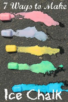 7 different ways to make ice chalk - the perfect activity for kids on a hot summ. - 7 different ways to make ice chalk – the perfect activity for kids on a hot summer day - Outside Activities, Summer Activities, Toddler Activities, Outdoor Activities, Toddler Fun, Activities For Youth, Weather Activities, Camping Activities, Sensory Activities