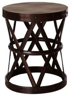 Arteriors Costello Side Table, Dark English Bronze traditional side tables and accent tables