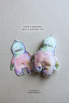craft to do with toddlers - turn a drawing into a stuffed toy