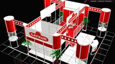 Turkish tea brand Çaykur | Modular Exhibition Stand @ Arkhe Mimarlık   http://www.exhibitionturkey.com/ExhibitionStandsDetails.aspx?projeId=100