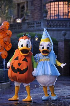 "Donald and Daisy decked out for ""Mickey's Not-So-Scary Halloween Party"""