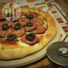 Massa de pizza do Andrivaio @ allrecipes.com.br