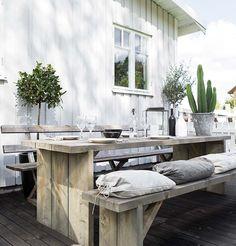 Villa Kesätuuli: Sisustusideoita terassille