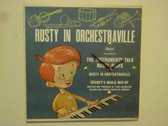 Repurposed Record Cover Clock - Rusty in Orchestraville - Upcycled