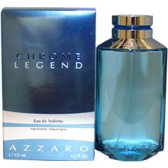 Chrome Legend by Azzaro For Men. Eau De Toilette Spray 4.2-O $31.35