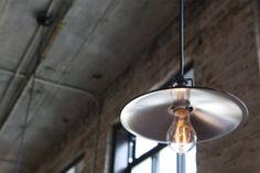 Great mix of modern lighting/antique bulb