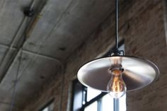 Great mix of modern lighting/antique bulb