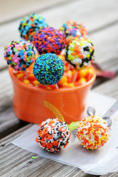 Halloween Cookie Dough Pops